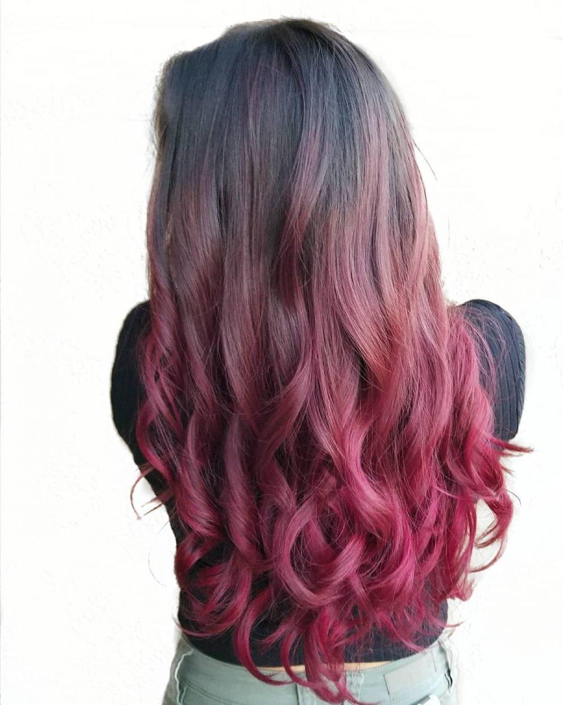 Rose Petal Balayage hairstyle
