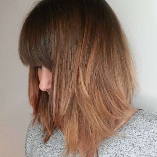 rosy hue rose gold hair color