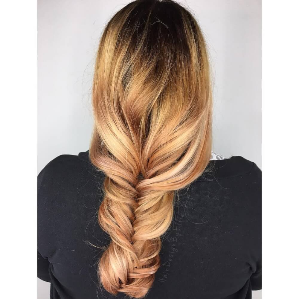24 top blonde highlights that are trending for 2018 woman with rose red hair and blonde highlights pmusecretfo Image collections