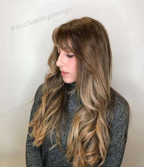Sandy beach blonde balayage hair
