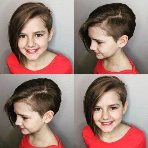 Sassy Asymmetrical Pixie Cut for Little Girls