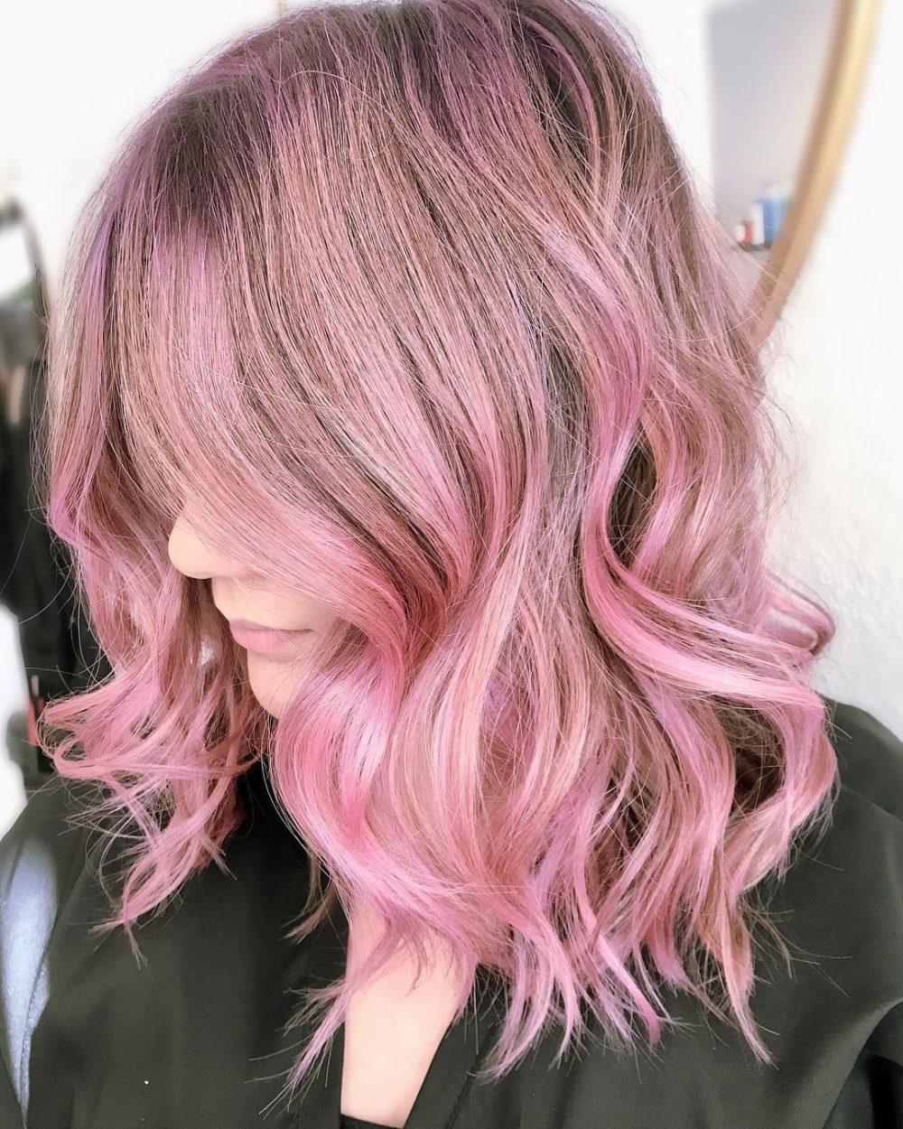 Sassy Pastel Pink hairstyle