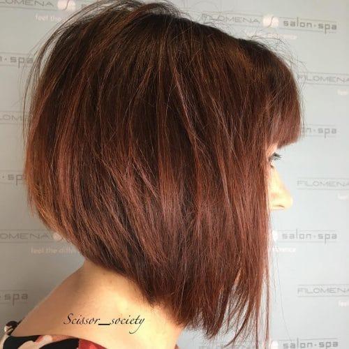 Sassy short angled bob hairstyle
