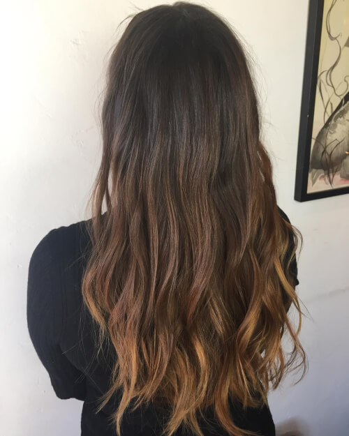Brunette ombre hair color