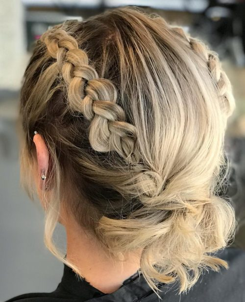 Picture of a sharow root double braided updo
