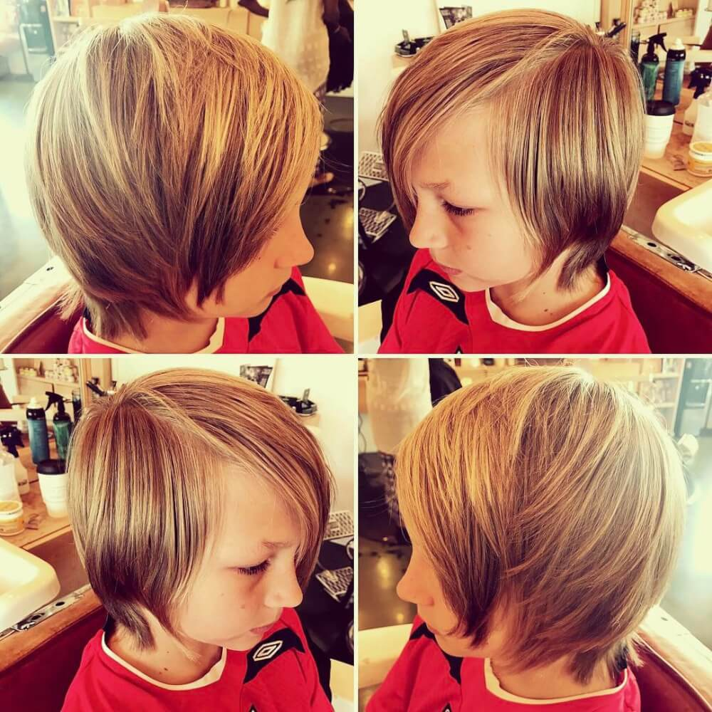 A surfer shag haircut for boys