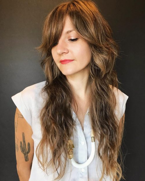 30 Long Shag Haircuts Trending Right Now