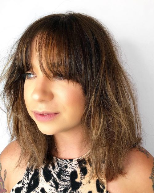 Shaggy Cut with Balayage Color