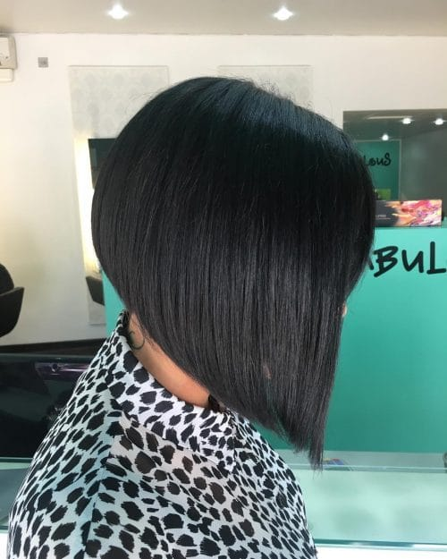 Sharp A-Line hairstyle