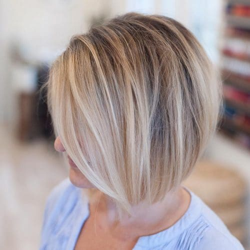 Sheared A-Line hairstyle