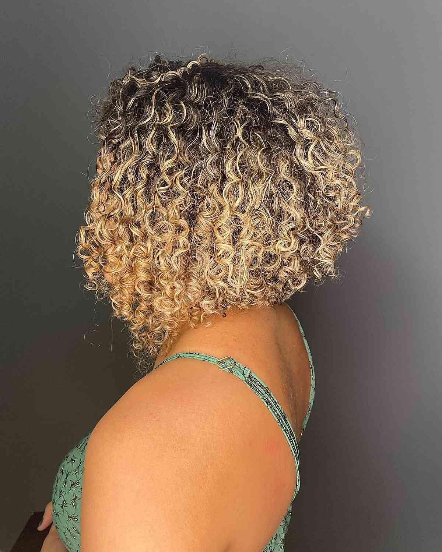 short a-line curly bob