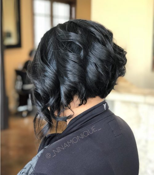 Picture of a short and sassy curled hairstyle
