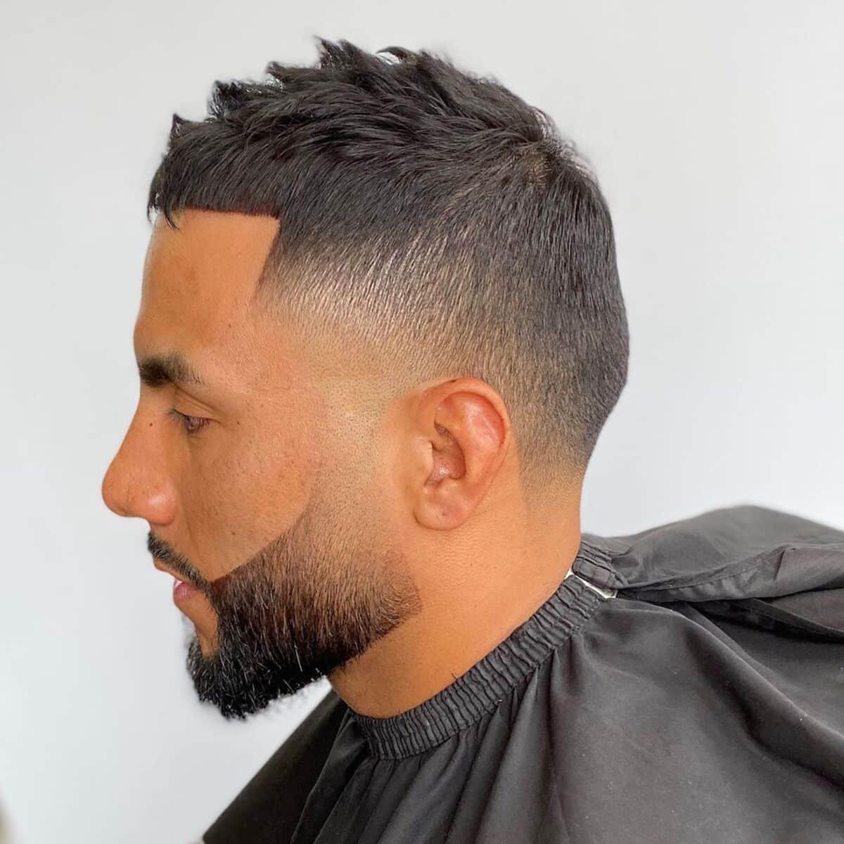 Corte de barba corta
