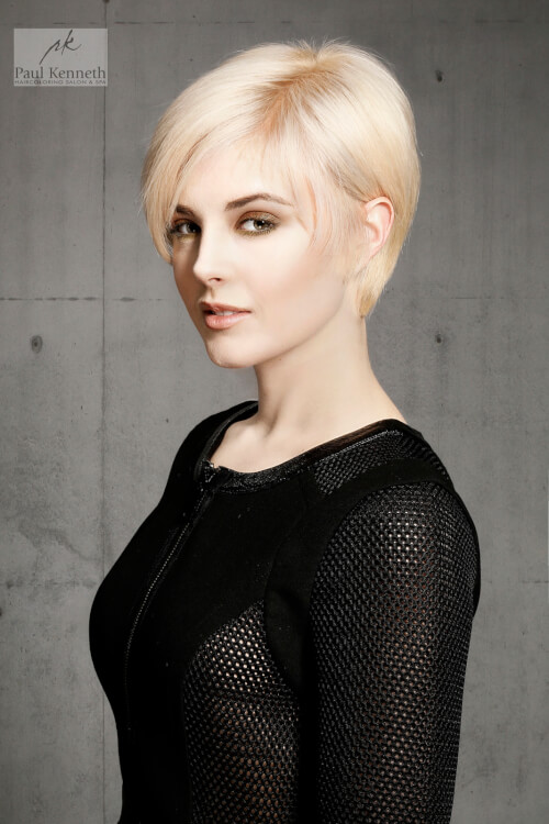 Short Blonde Hair With Side Part
