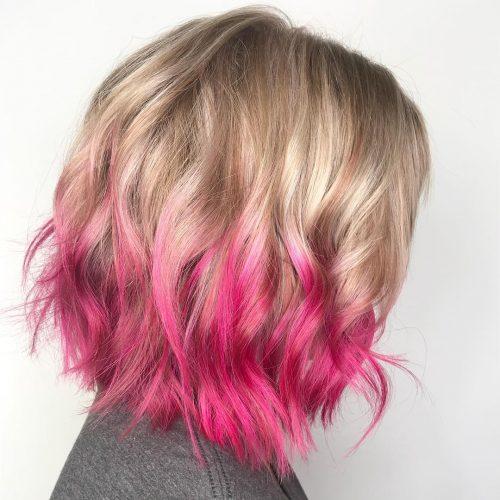 Розовые волосы: фото-идеи, стили окрашивания | Розовый цвет волос ... | 500x500