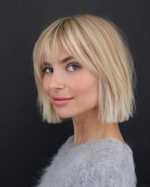 23 Short Hair With Bangs Hairstyle Ideas Photos Included