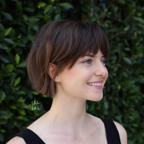 Hairstyles bangs faces for oval with short Short Hairstyles