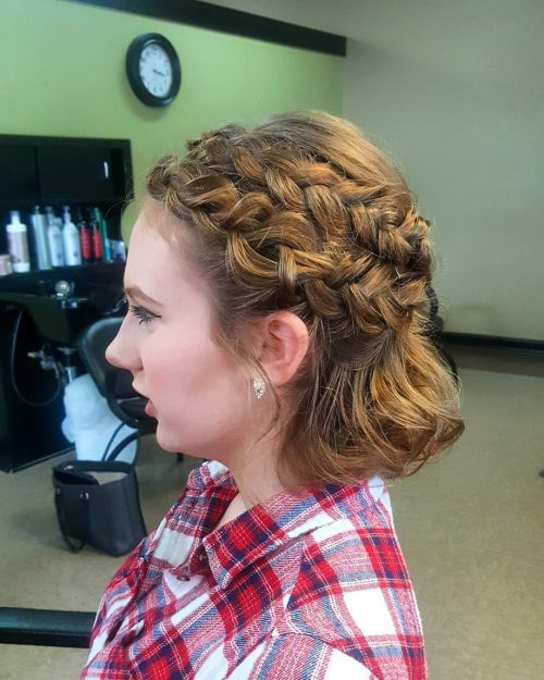 Picture of short braids for prom