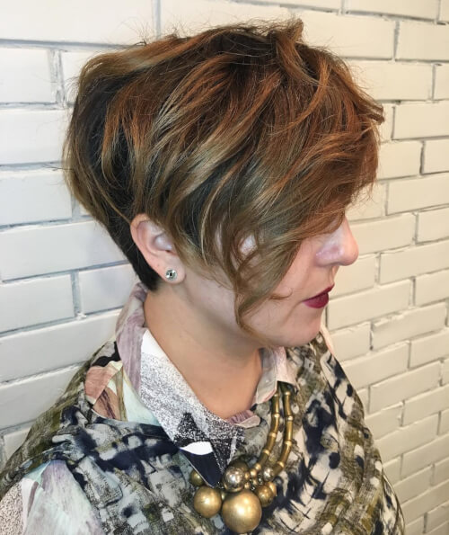 woman with short hair pixie cut disconnection