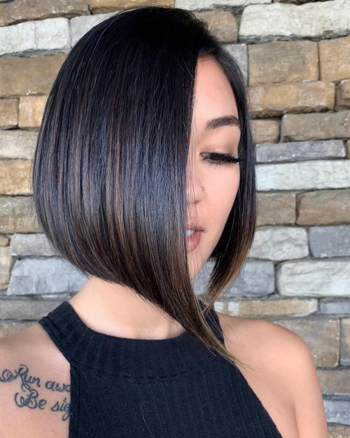 Sleek Short Hair with a Side Part