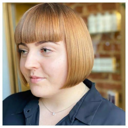 Bangs For Round Face Shapes 21 Flattering Haircuts