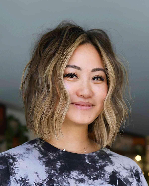 corte de pelo corto para chica asiática cara cuadrada