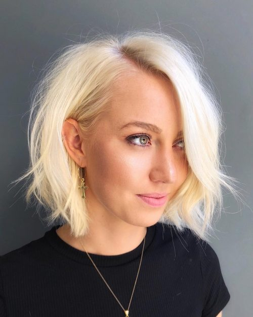 21 Flattering Short Haircuts For Oval Faces In 2020