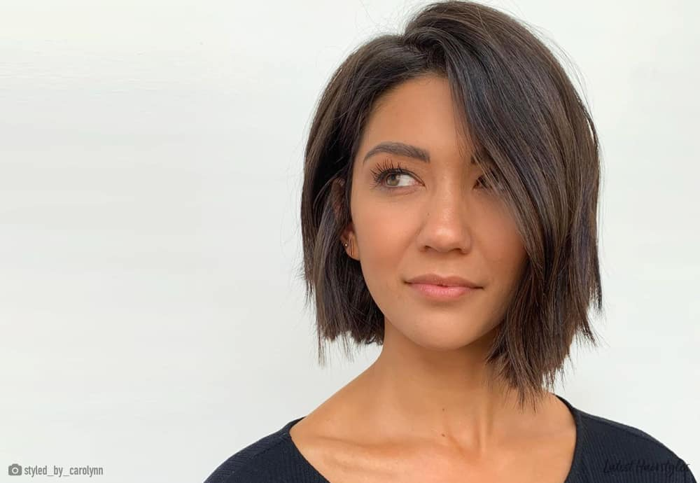 Enjoyable 23 Flattering Short Haircuts For Oval Faces In 2020 Natural Hairstyles Runnerswayorg