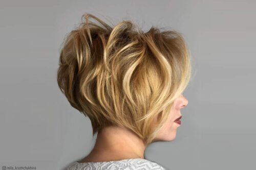 Pompadour Short Hairstyle For Women