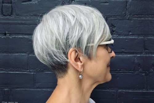 The best short haircuts for women over 60 with glasses