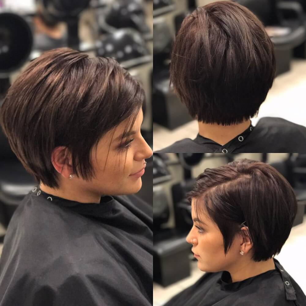 Cute Short Haircut with Bangs