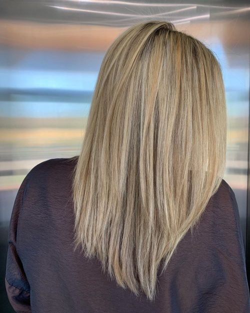 Short layers for long thin hair