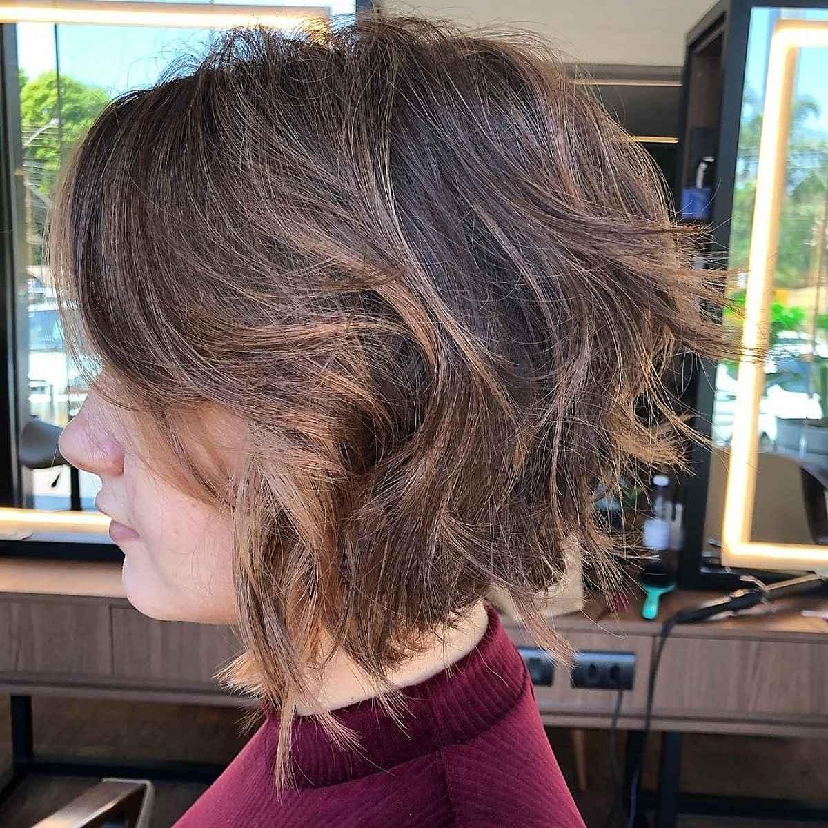 corte de pelo corto desordenado