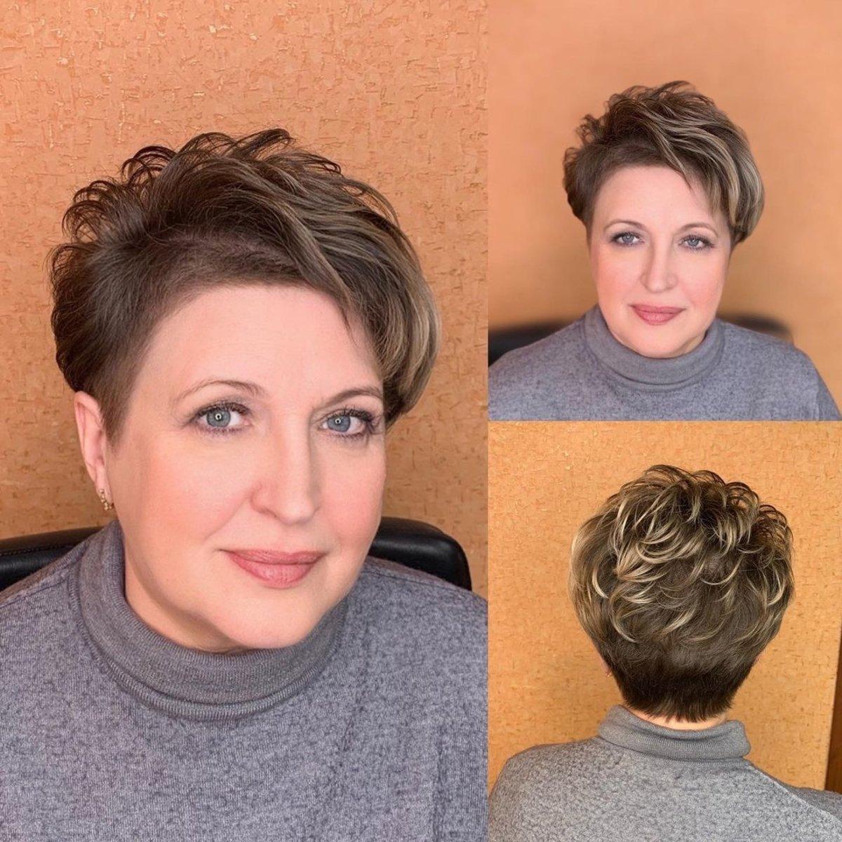 Pixie bob corto y atrevido para mujeres con cabello fino