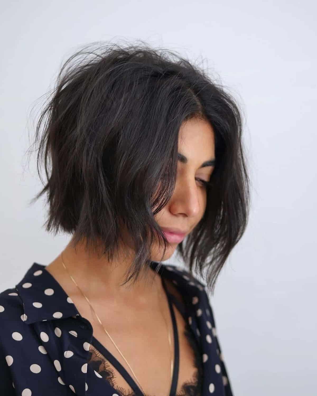 corte bob peludo corto para mujer