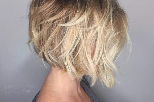 short and tousled for fine hair