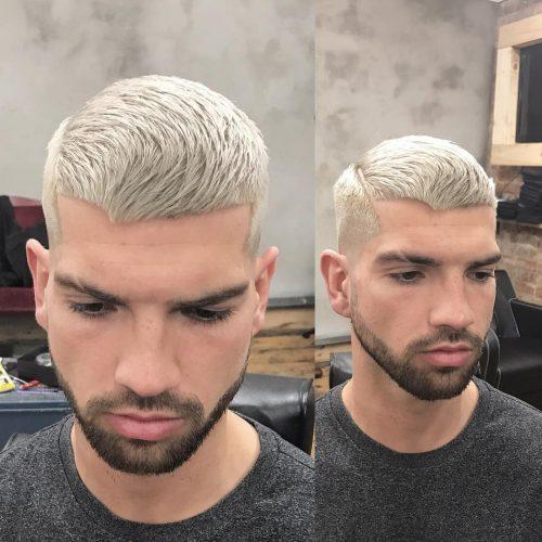 A short textured cut for men