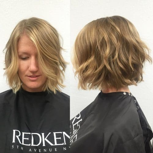 Short and Shaggy Bob hairstyle