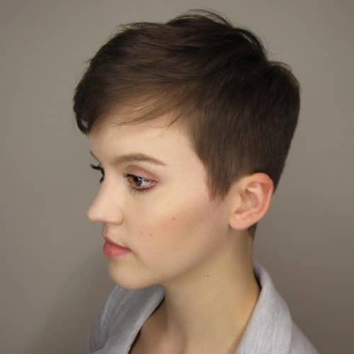 Short & Textured Pixie hairstyle