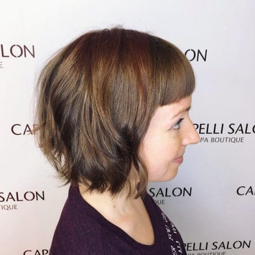 Short Texturized Bob hairstyle