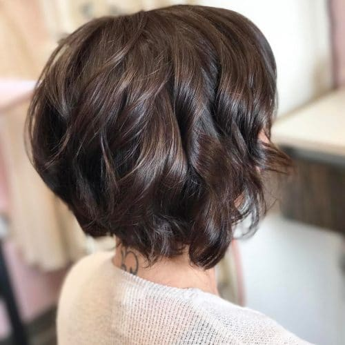 Unique Short Stacked Hairstyles With Bangs Haircuts For Thick Hair