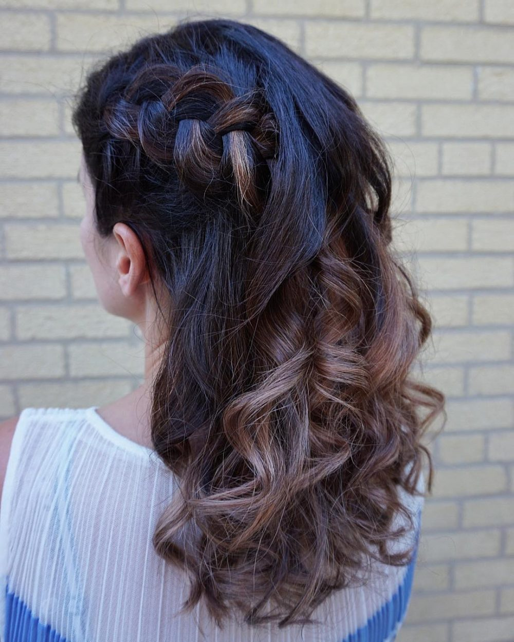 Side Dutch Braid with Waves hairstyle