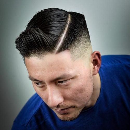 peinado de quiff de parte lateral