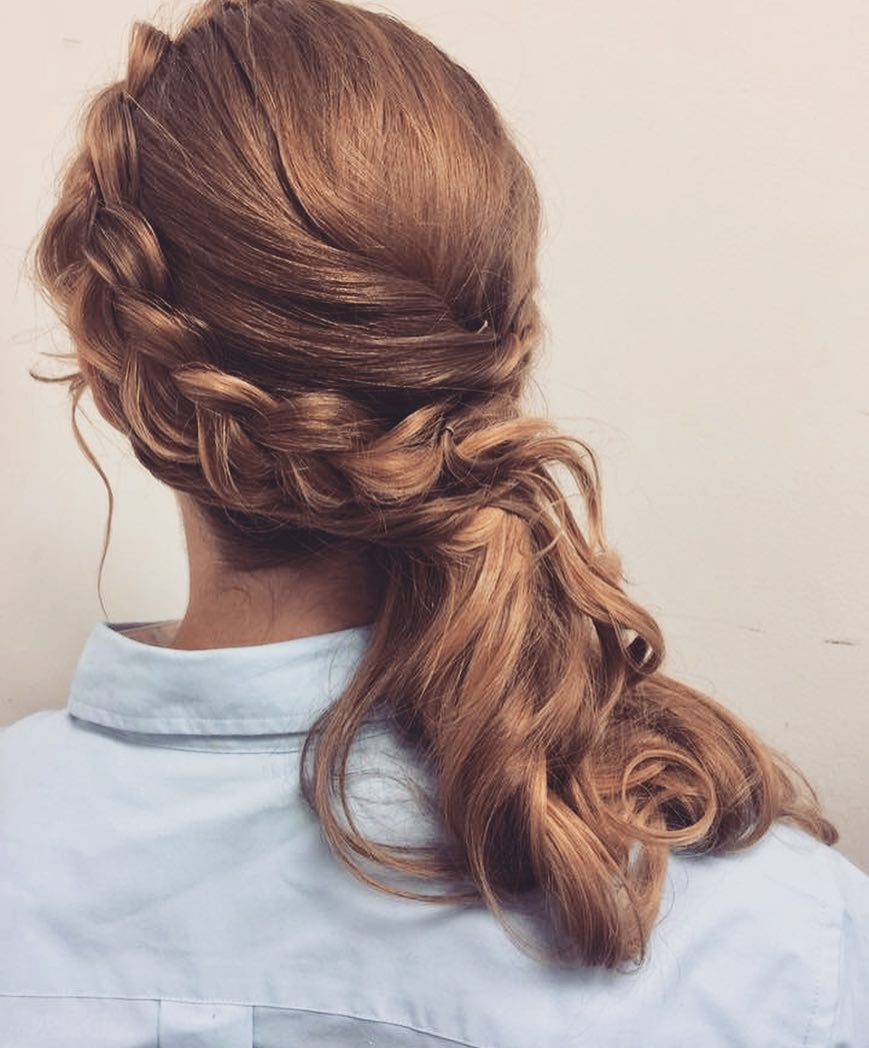 Side-Swept Dutch Braid hairstyle