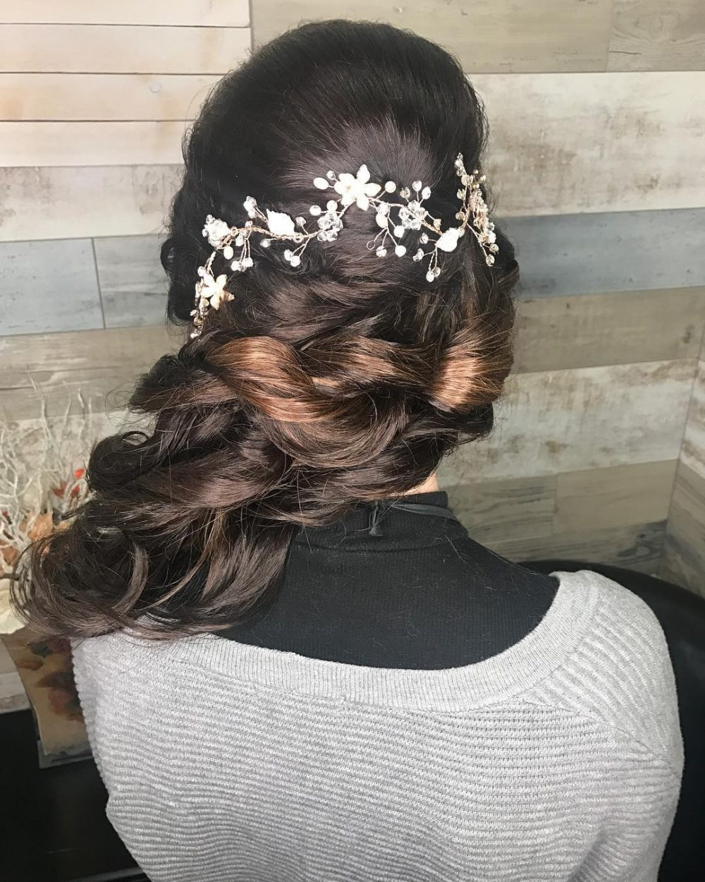 Side-Swept Romance hairstyle