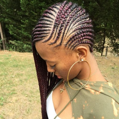 Side Cornrows hairstyle