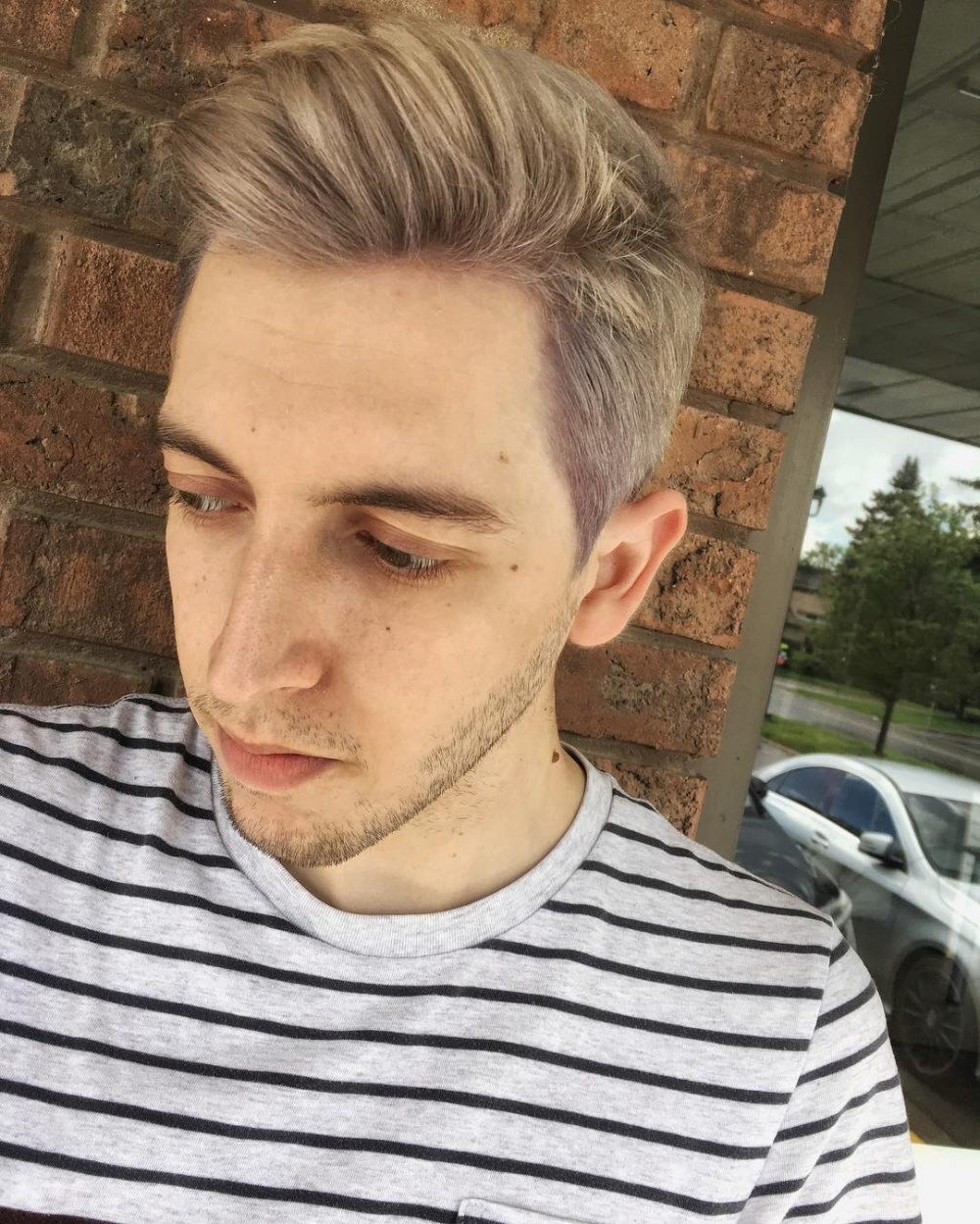 A nice silver ashy blonde hair color