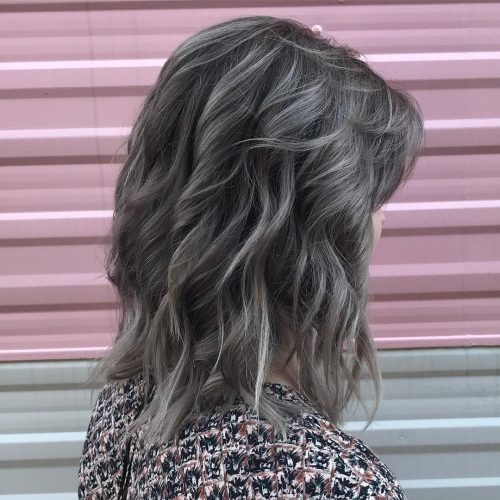 Picture of hair with silver babylights