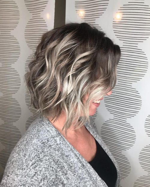 Dark Brown Hair with Silver Blonde Highlights