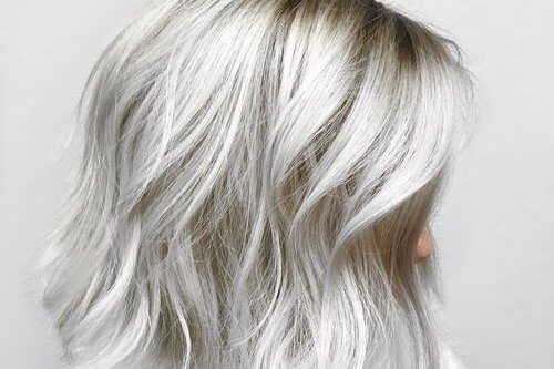 White Hair Color Blonde